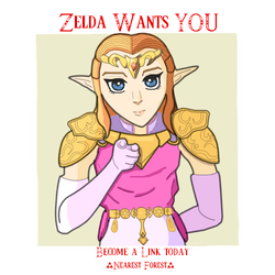 Zelda Recruit Poster