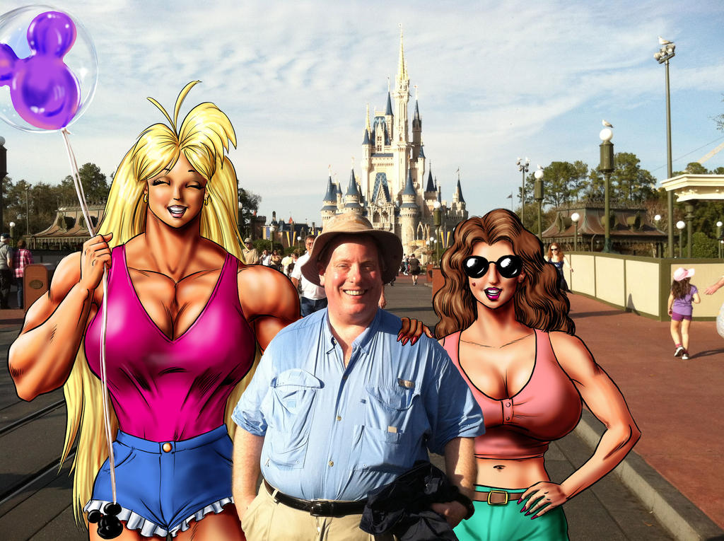 Tetsuko, Jimmy, and Sonya at Disney World