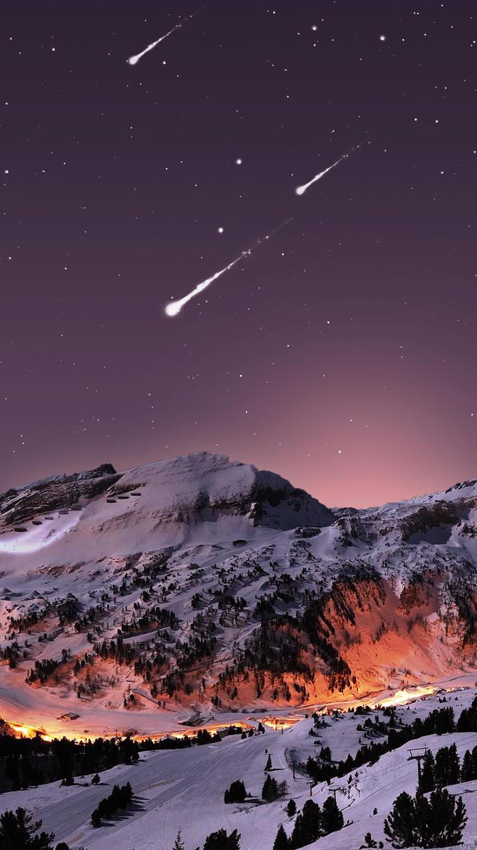 Mountain Lights Wallpaper IPhone 6 By Mattiebonez