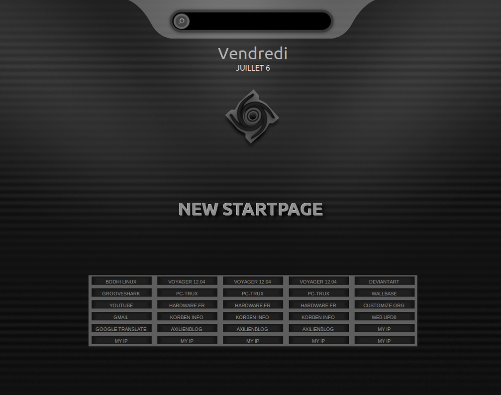New startpage by chicoray