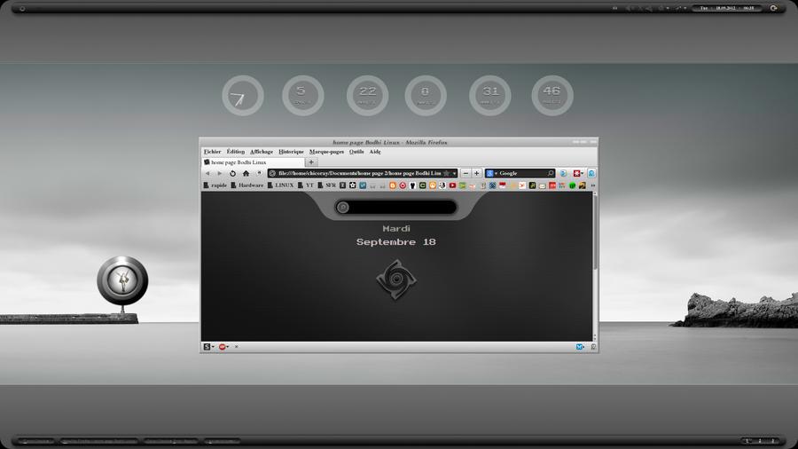 KDE desk sept 2012 by chicoray