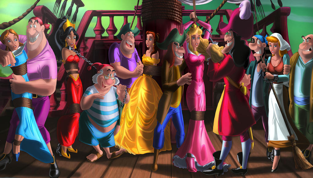 Lost princesses on a boat by erikson1 on deviantart