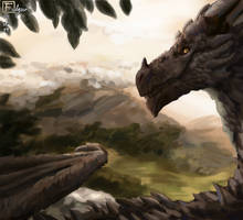 Mountain Respite by Volraknil