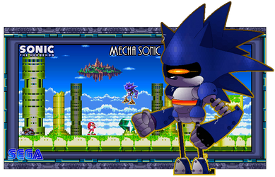 Doomsday Machine - Mecha Sonic by FierceTheBandit