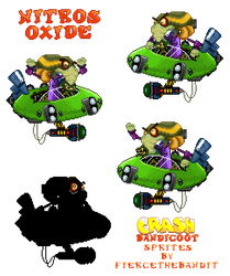 Crash Bandicoot Custom Sprites - Nitros Oxide