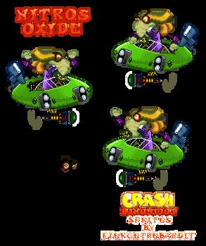 Crash Bandicoot Custom Sprites - Nitros Oxide