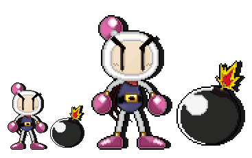 Pixel Quickie - Bomberman by FierceTheBandit