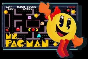 Queen Of The Arcade - Ms. Pac-Man by FierceTheBandit