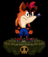 lil' Crash Bandicoot Sprite by FierceTheBandit