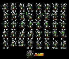 Crash Bandicoot OC - B.Fresh Skunk Sprite Sheet
