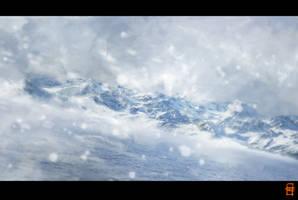 Snow mountain by Hawk4