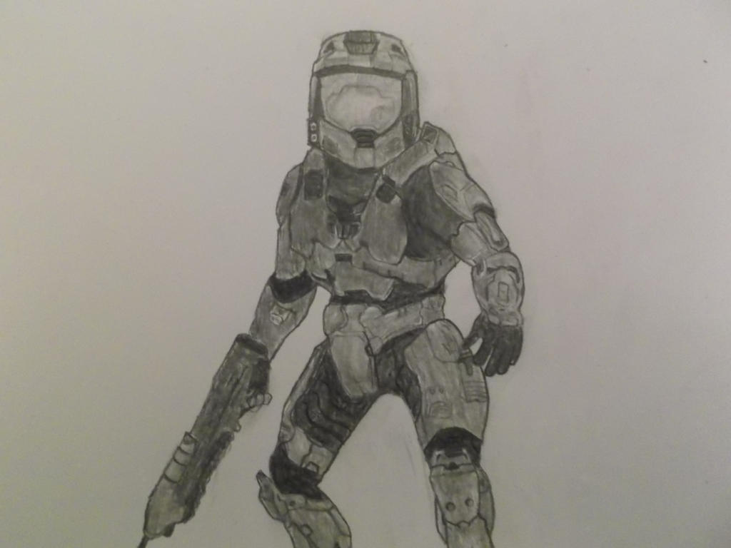 Master Chief detailed by Foxeyes32