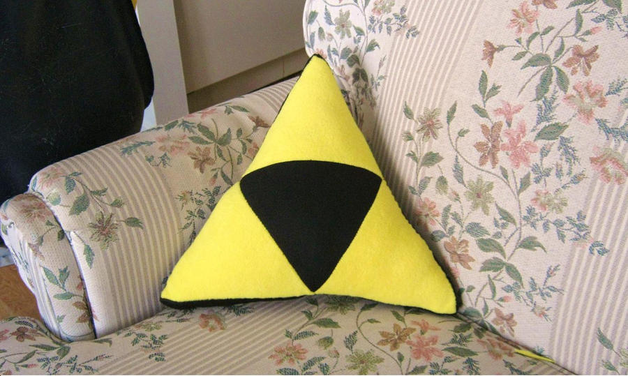 Triforce cushion by PlushMayhem