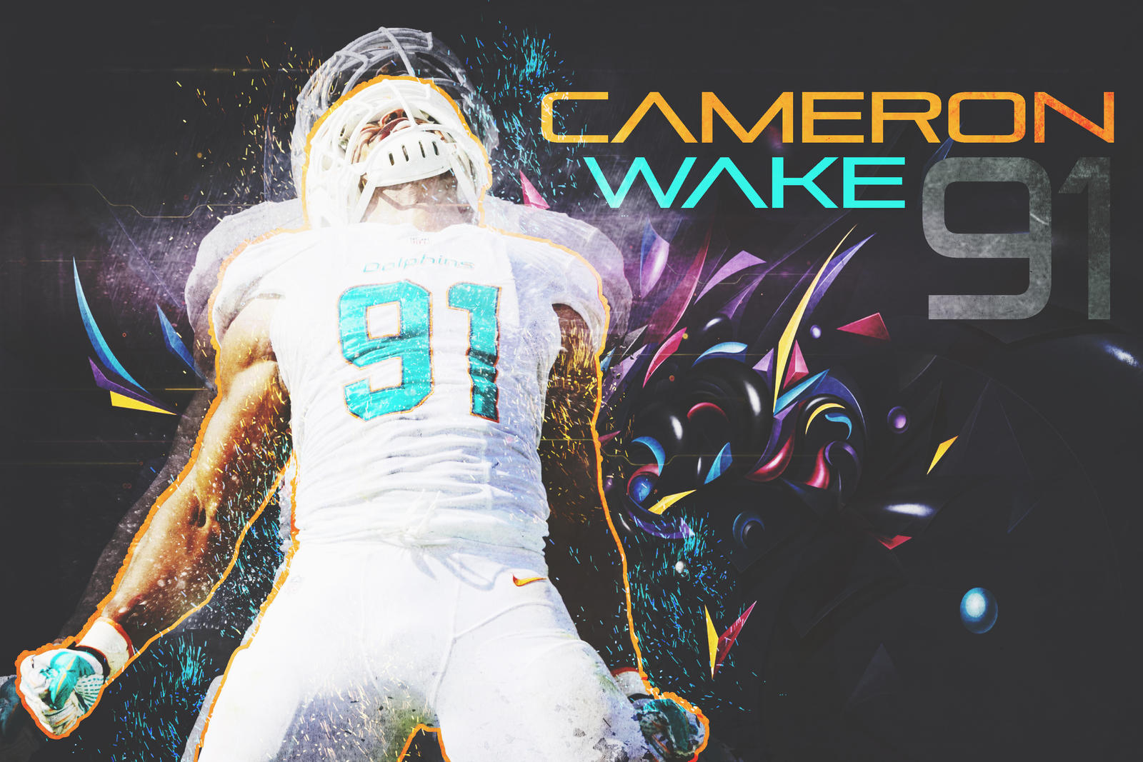 Cameron Wake Wallpaper by Bengal by bengalbro on DeviantArt
