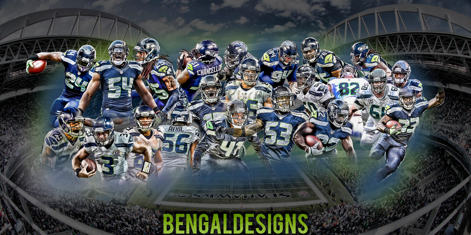 seattle seahawks wallpaper by bengal by bengalbro on