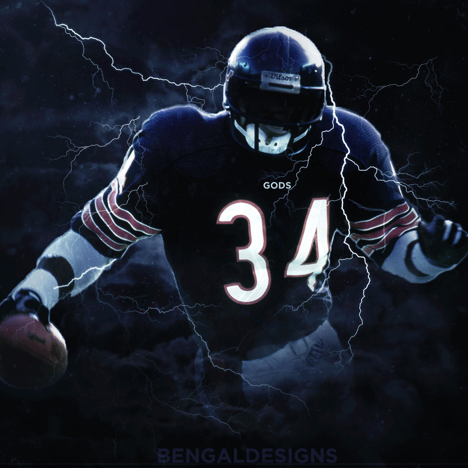 walter payton wallpaper by bengaldesigns by bengalbro on