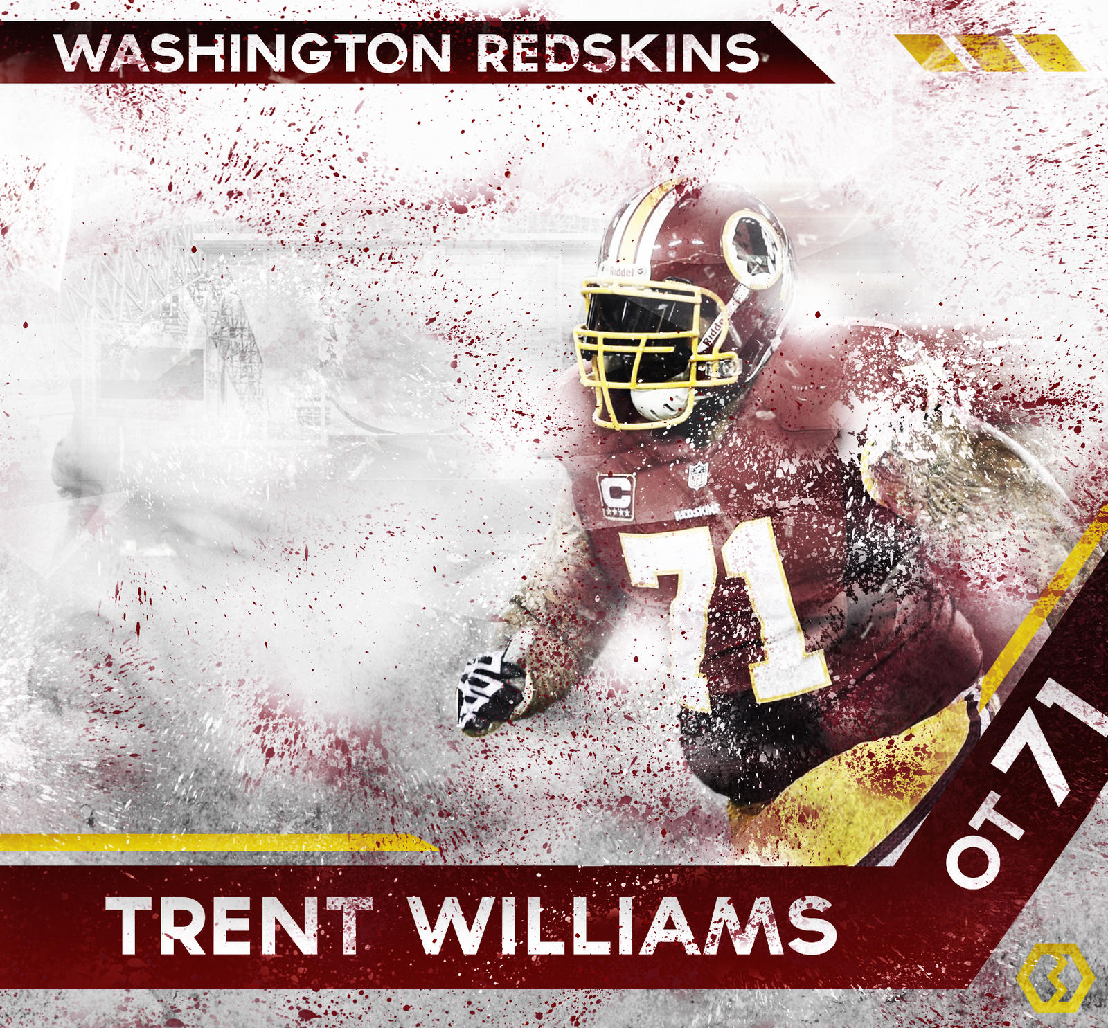 Trent Williams Wallpaper By BengalDesigns MVP by bengalbro on