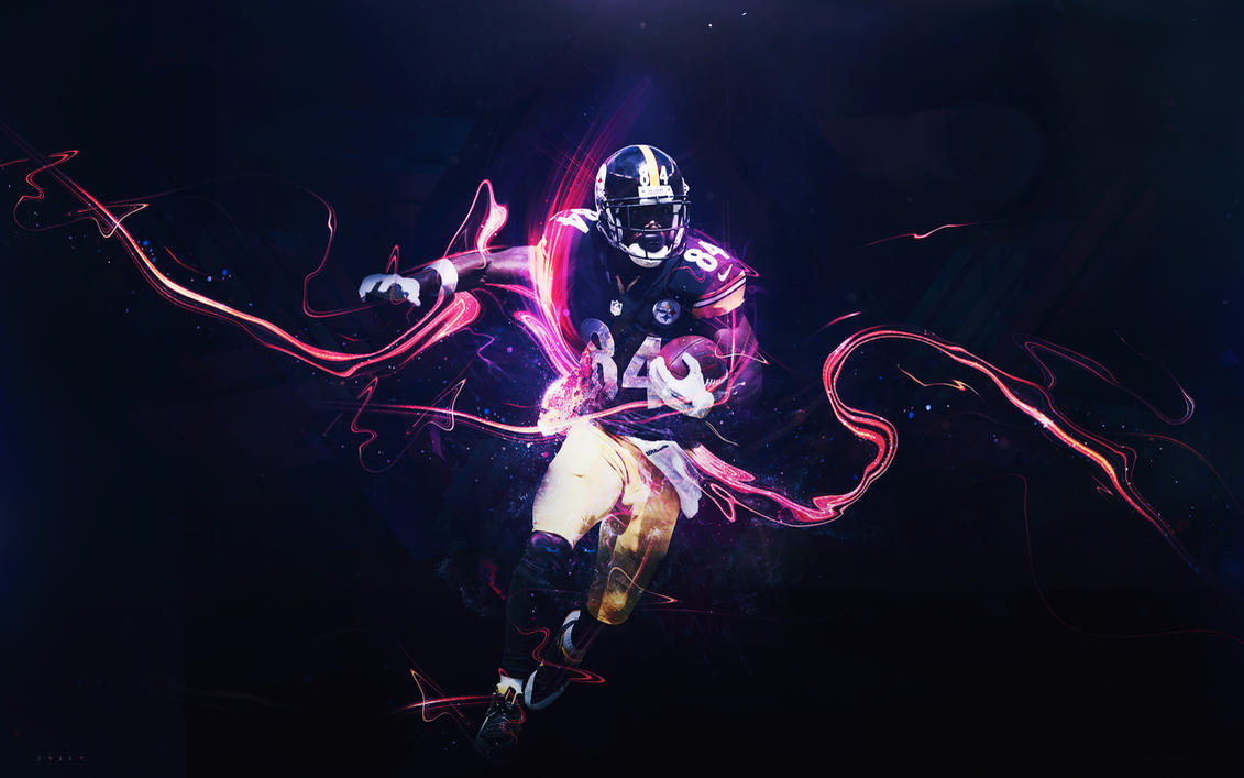 Antonio Brown Wallpaper Multi By Bengaldesigns By