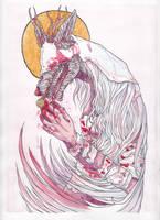Bloodborne Fanart - Vicar Amelia by Drawthulu