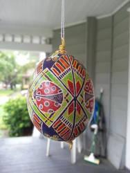 Pysanky Egg: Ladybugs by MissMinda