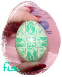 Pysanki Egg: Fish by MissMinda