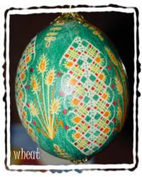 Pysanki Egg: Wheat by MissMinda