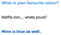 cleverbot messups - colour by Ch3rriCh3rry