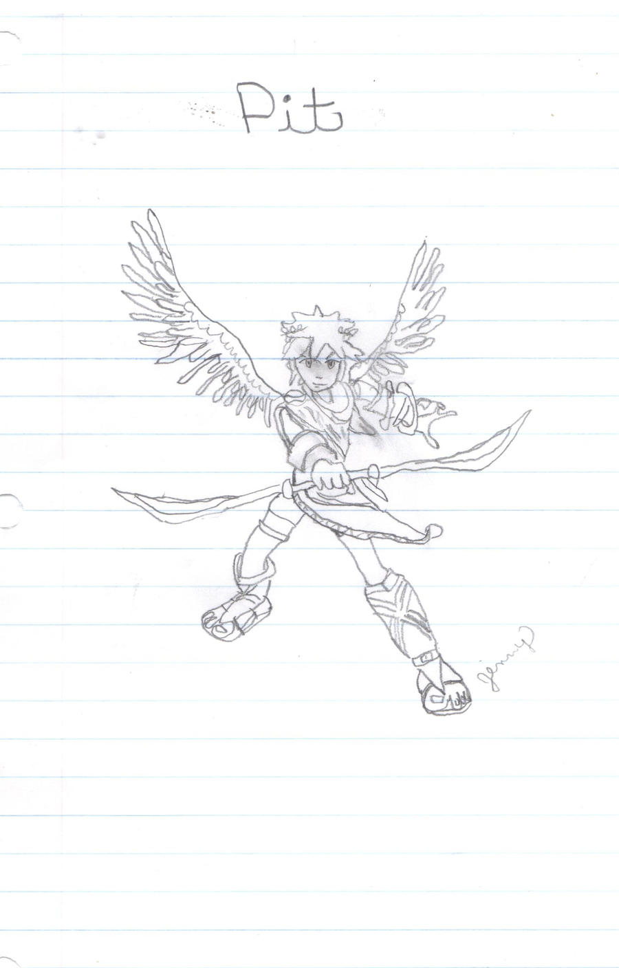 Kid Icarus Pit Drawing By AnimeLova56