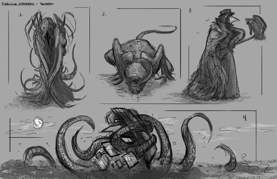 Eldritch Horror Thumbnails by izzyleidlwilson