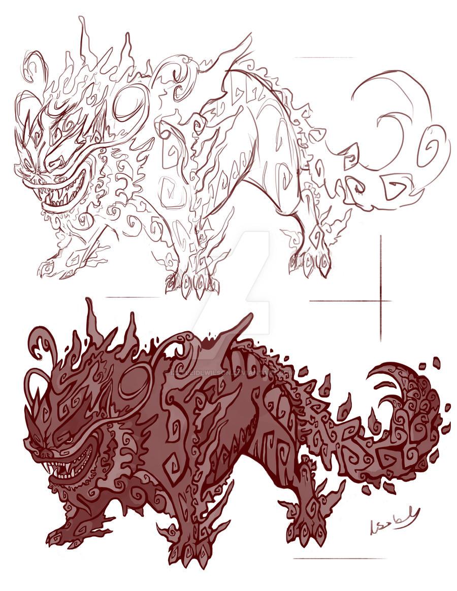 Lion-Dog Sketch by izzyleidlwilson