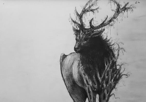 Forest Elk by izzyleidlwilson