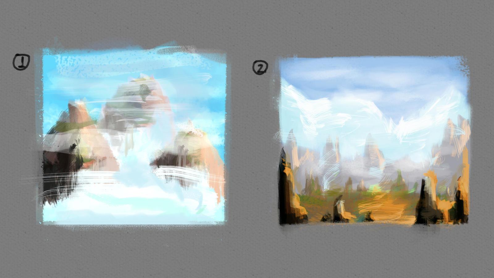 Landscape Thumbnails by izzyleidlwilson