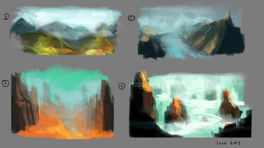 Colour Landscape Thumbnails by izzyleidlwilson