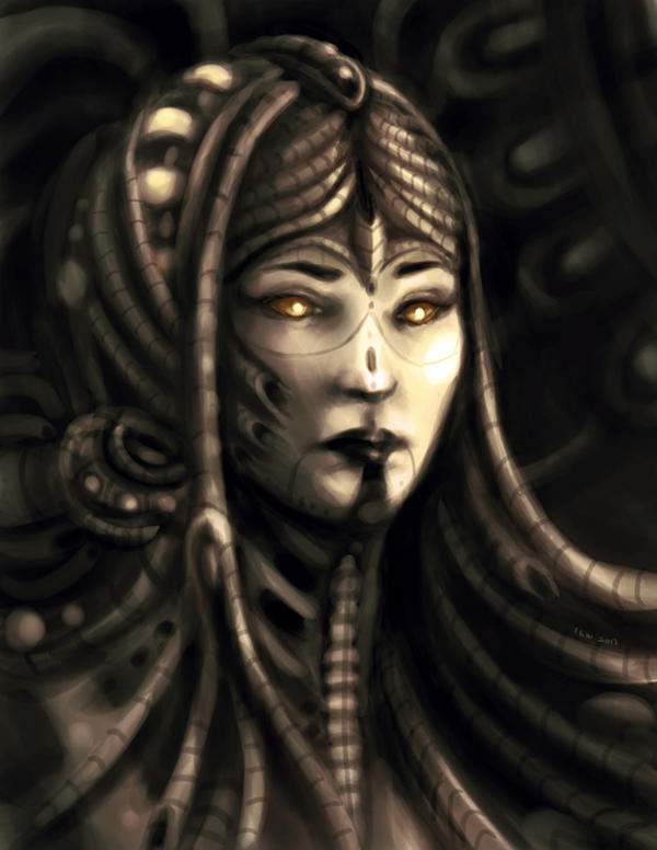 Alien Queen Portrait by izzyleidlwilson