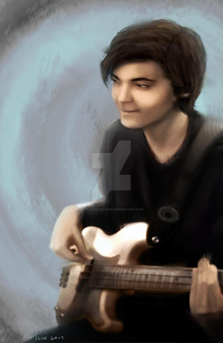 Portrait of a Bass Player by izzyleidlwilson