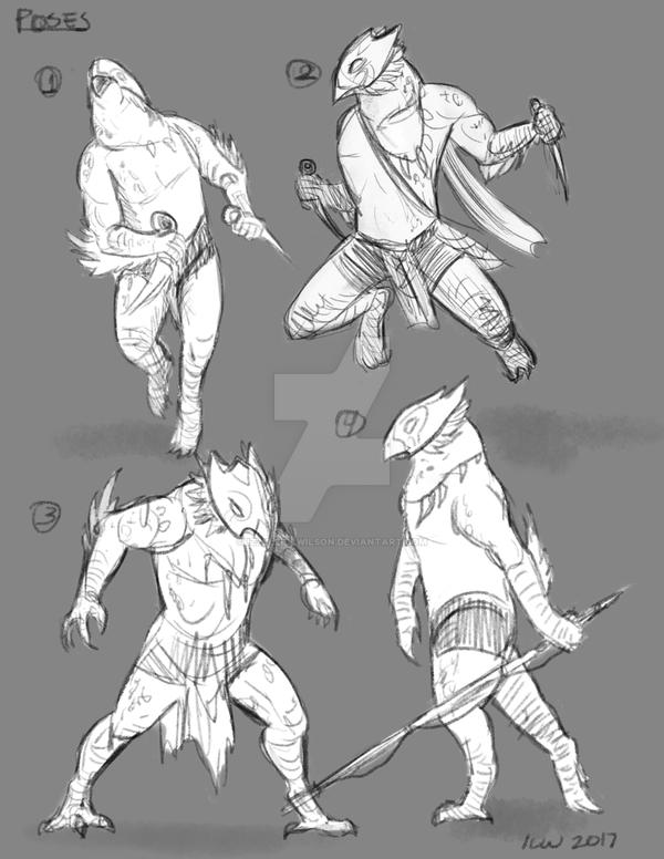Character poses by izzyleidlwilson