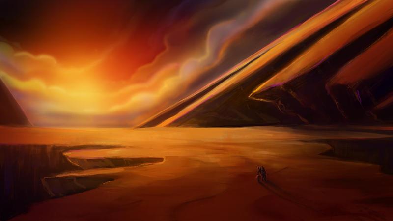 Desert Sunset by izzyleidlwilson