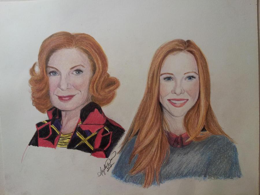 Molly Quinn and Susan Sullivan by InspiredByYouArt