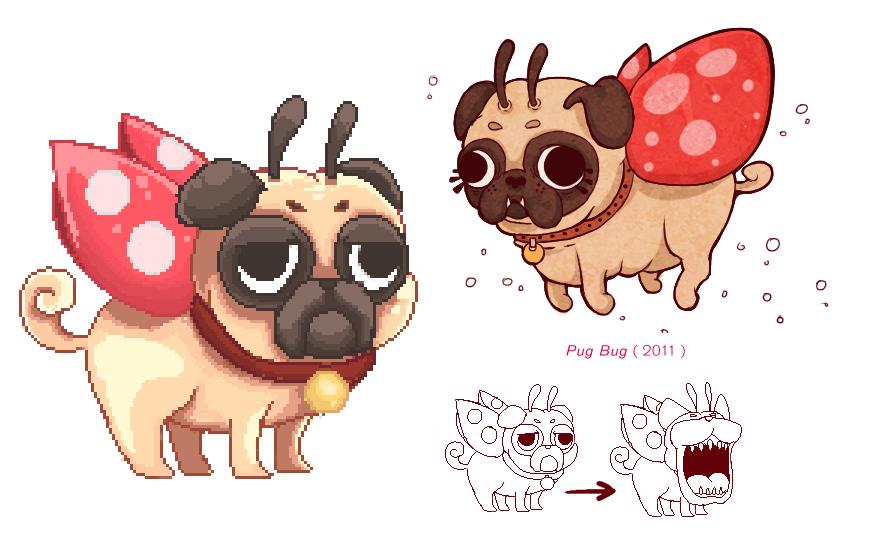 Pug Bug wip by Cuboidal