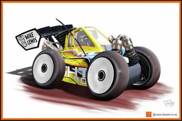 Losi 4.0 Nitro buggy RC cartoon by PIKEO