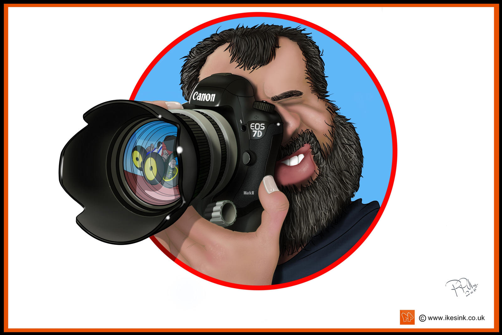 Caricature of RC photographer by PIKEO