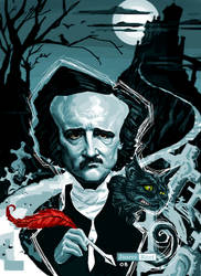 Edgar Allan Poe by juarezricci