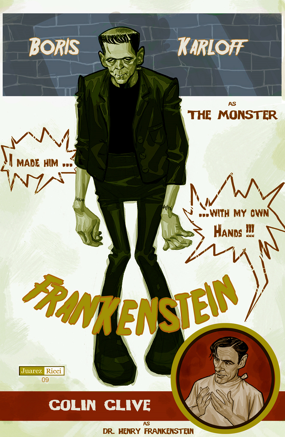 Frankenstein by juarezricci