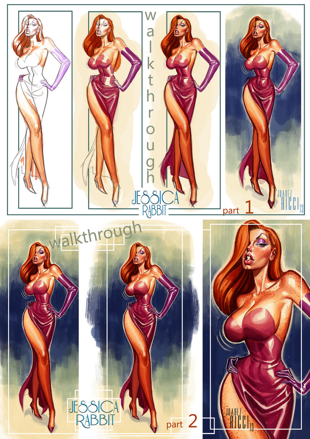 Jessica Rabbit walkthrough by juarezricci