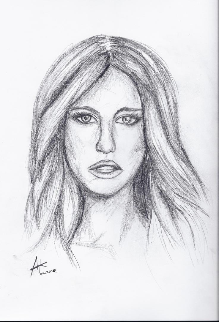 Pretty Girl Face Sketch GirlFace Sketch Girl Tumblr