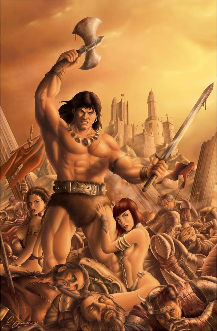 Conan the barbarian with women