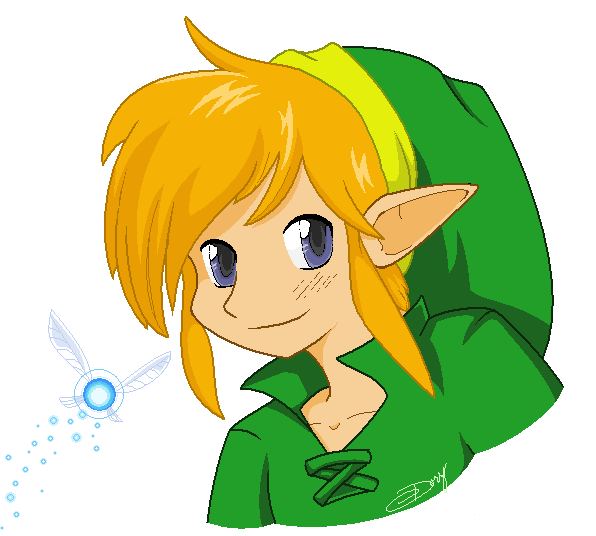 Link and Navi by doryphish333