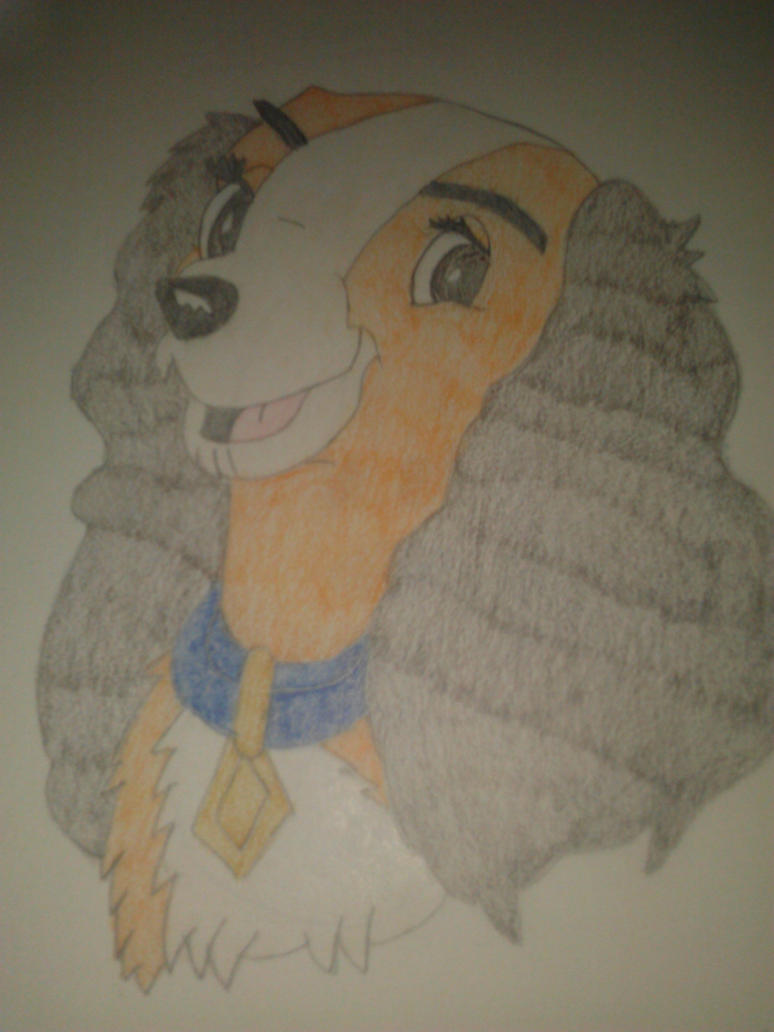 lady from disney's lady and the tramp by Sonicsugarhog23