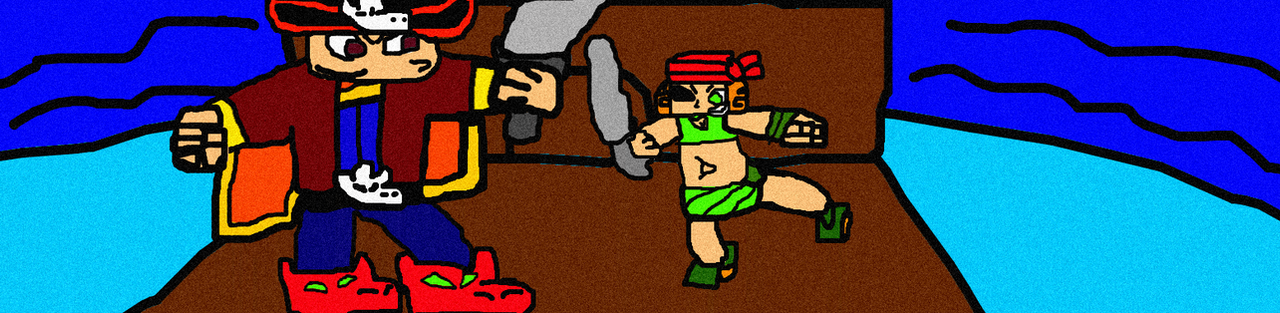 Me And Izzy's Pirate Battle by Gr8Finity