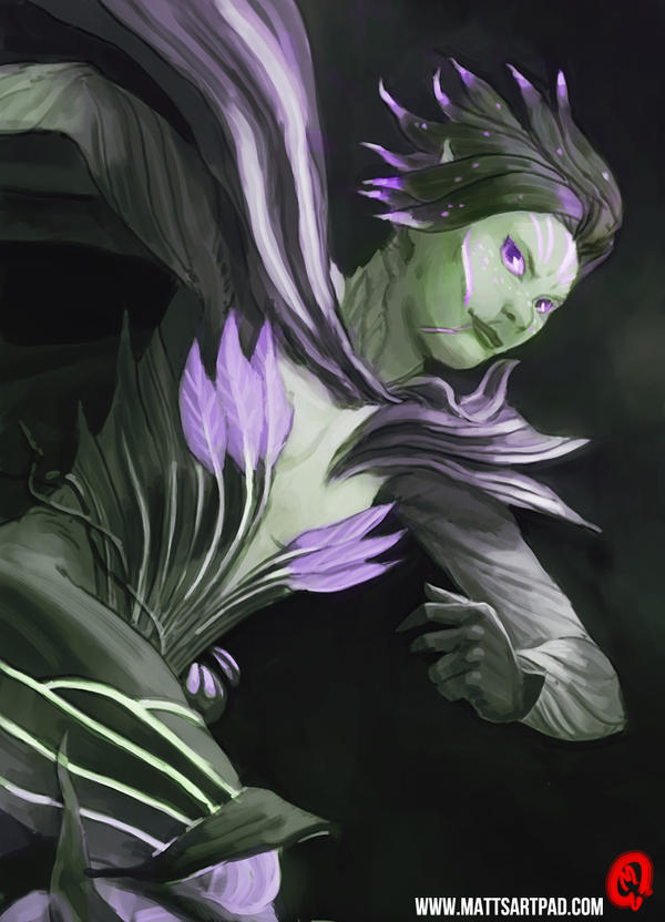 Sylvari Sketch by Changinghand